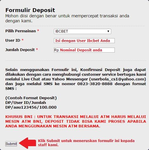 form deposit